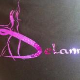 Textilveredelung Glitzer lila
